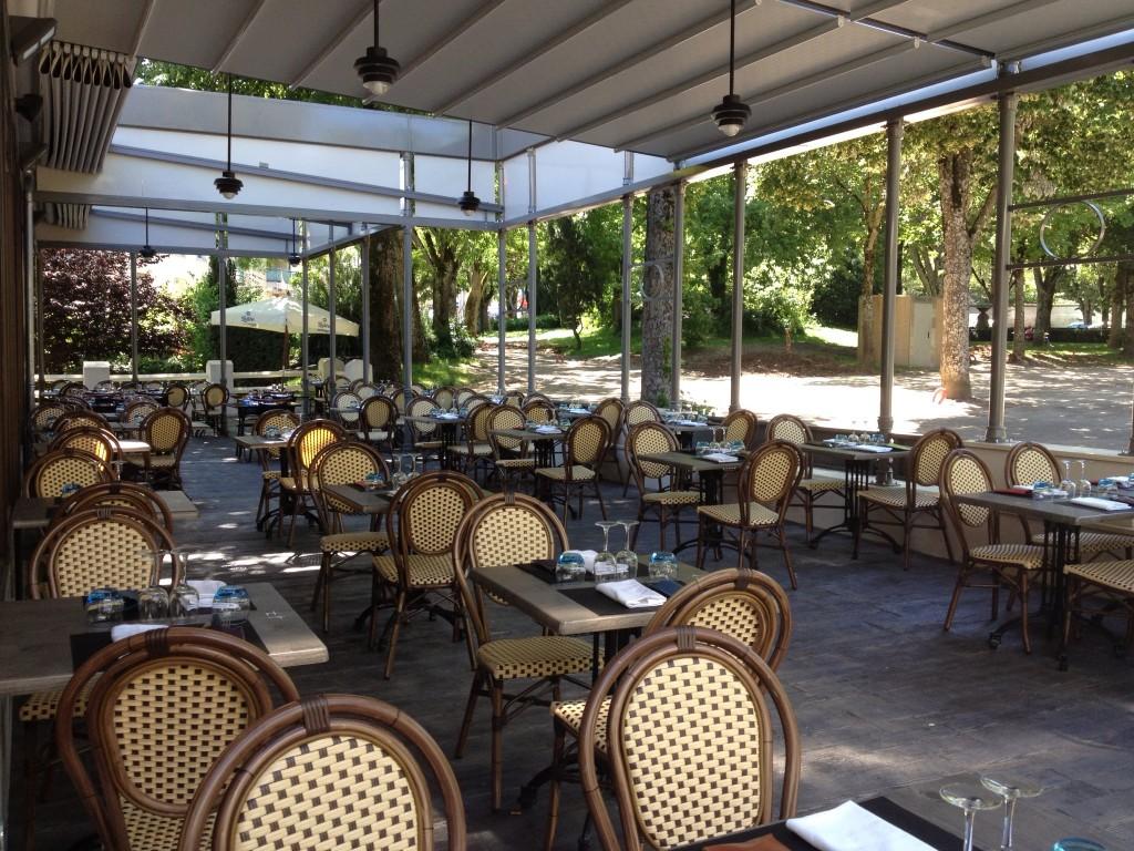 Terrace of Le Kiosque Restaurant