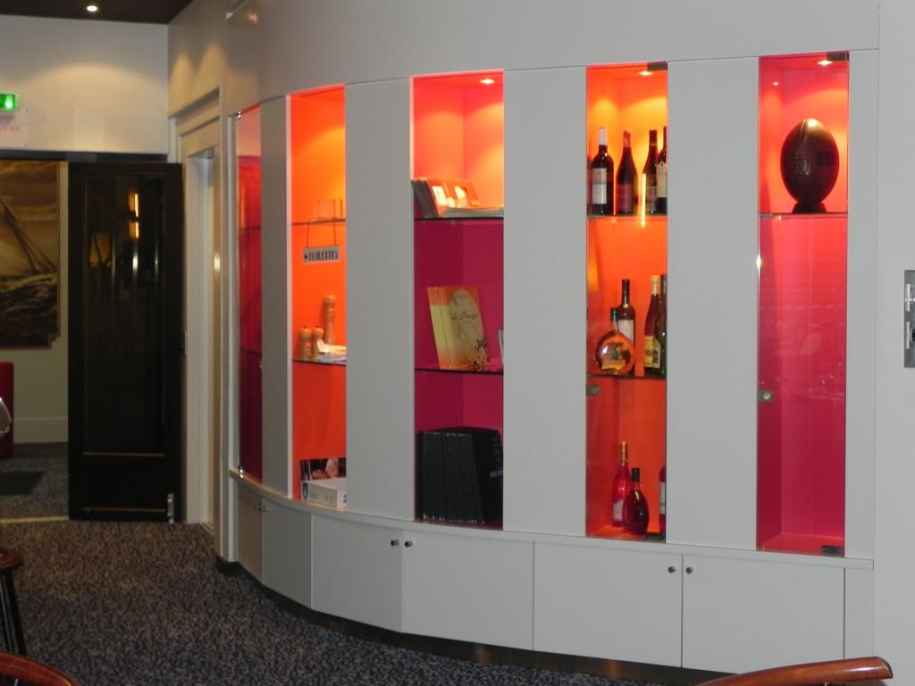 Interior of Le Kiosque Restaurant